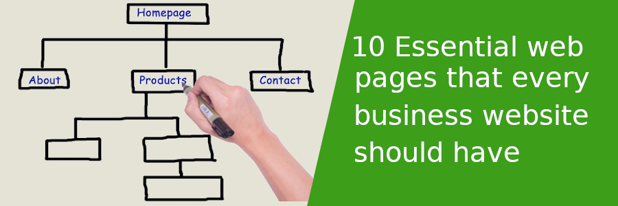 10 Essential web pages that every business website should have