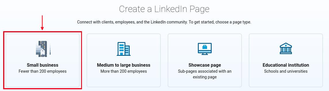 LinkedIn Company category